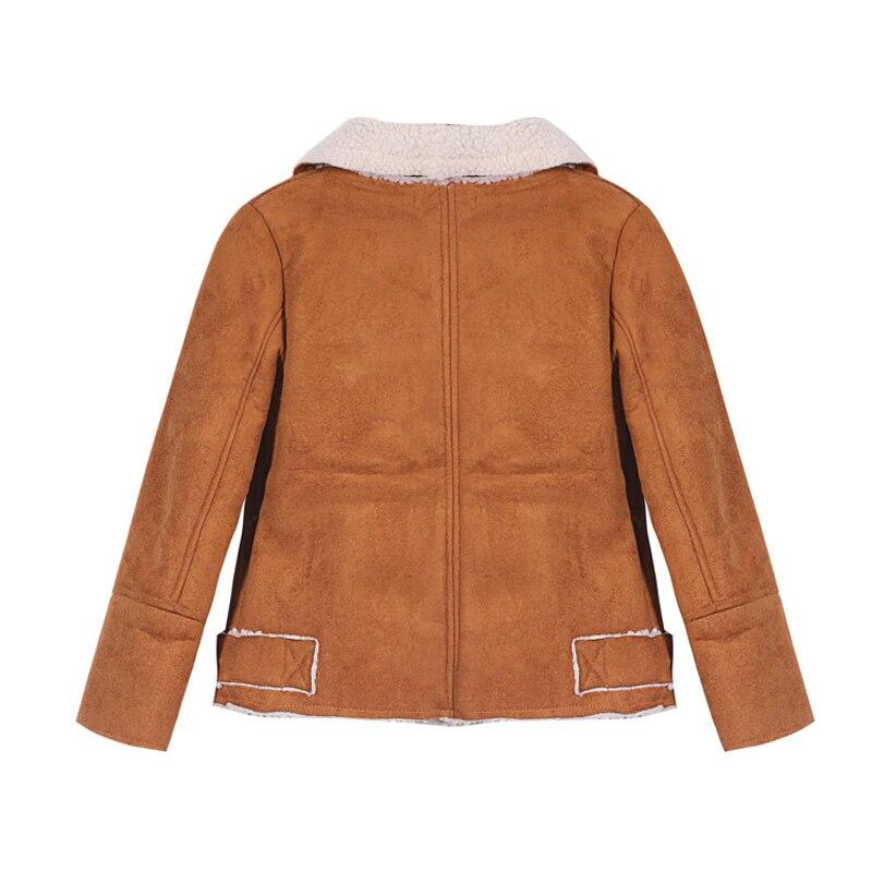 516bed417cd5 YKYY YAKUYIYI Autumn Girls Zipper Bomber Jacket Dark Brown Chic Wide ...