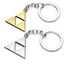 Zelda LOGO Keychain Anime Game The Legend Triangle Mark Keychain Pendant Toys Action Figures Keyring Key Chain Ring for Men Boys