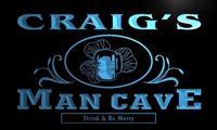 X0090 Tm Craig S Man Cave Irish Pub Custom Personalized Name Neon Sign Wholesale Dropshipping