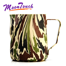 Stainless Steel Frothing Pitcher Pull Flower Cup Latte Milk Jug Coffee Mug Frother Barista Tool Espresso Accessories