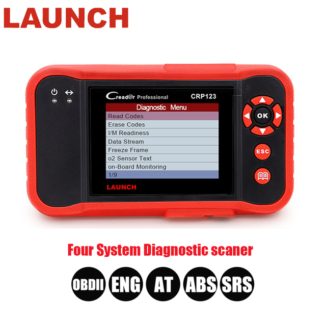 US $160 0 30% OFF|LAUNCH Creader CRP123 Support Engine/ABS/SRS/Transmission  Automotive Code Reader Free Update Car Diagnostic Tool CRP 123 Scanner-in