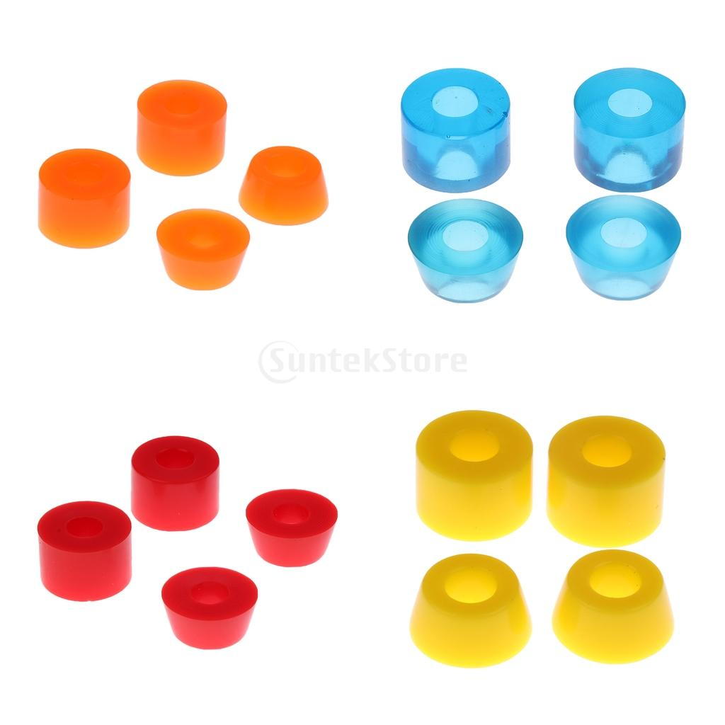 16pcs PU Skateboard Truck Bushings 90A Longboard Conical Top And Cylindrical Bottom Bushing Set