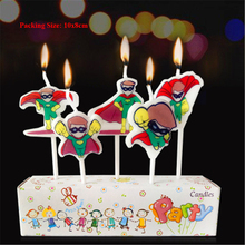 baby superhero candle cake decorating supplies children birthday decorations kids party superman