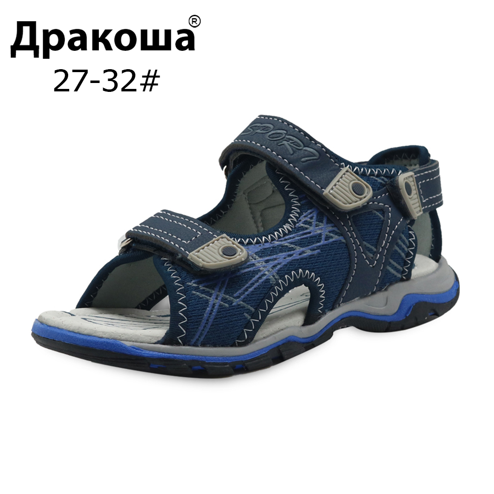 Apakowa Summer Kids Shoes Brand Open Toe Boys Sport Beach Sandals Orthopedic Arch Support Children Boys Sandals Shoes EU 27-32