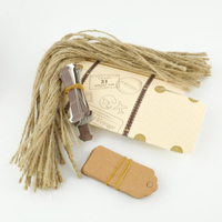 50pcs Unique Travel Trunk Candy Box With Kraft Paper Gift Tags Rustic Wedding Favors And Gifts