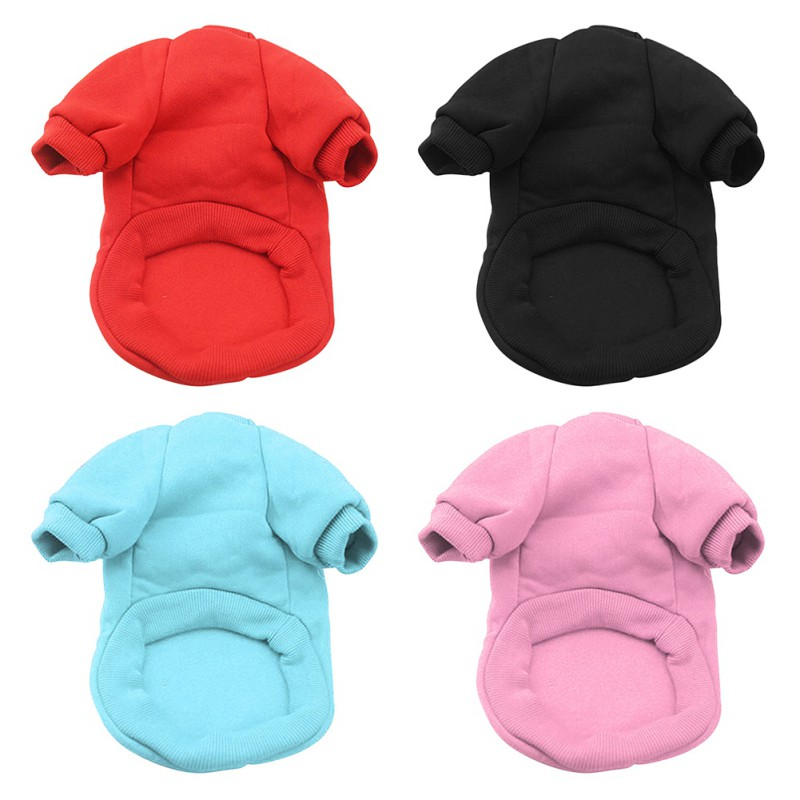 Autumn Winter Solid Pet Dog Clothes Warm Small Dog Coat Soft Warm Puppy Sweatshirt For Yorkies Chihuahua Teddy  Hot Sale