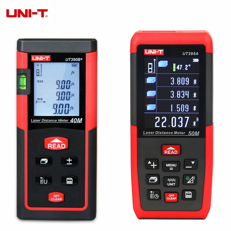 UNI-T UT390B+ UT391+ UT395A UT395B UT395C Portable Laser Rangefinder 40m 50m 60m 70m 100m Laser Distance Meter Range Finder unit ut395a ut395b ut395c laser distance meters 50m 70m 100m rangefinder best accuracy software data calculate continuous measur