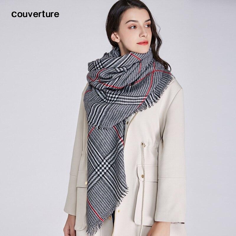 New Design Plaid Fashion Women Scarf Warm Cotton Thick Ladies Shawls Winter Wrap Pashmina Foulard Femme Bufanda Long Scarves