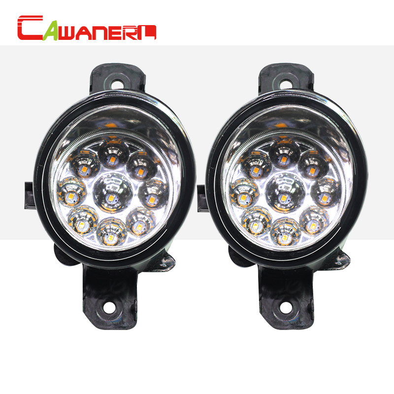 Cawanerl 1 Pair H8 H11 Car Styling LED Light Fog Light DRL Daytime Running Light DC 12V For Infiniti G37 M35 M45 QX60 JX35 cawanerl 1 pair car styling led light fog lamp daytime running light drl dc 12v for suzuki alto grand vitara jimny sx4 splash