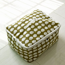 The New Cotton Quilt Bag Storage Box Hedgehog Zipper Clothing 0679 Finishing Move Clothes