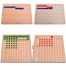 Полный Деревянный Монтессори математика обучающий материал расчет доска мини Семейный комплект Дети Ранние развивающие игрушки