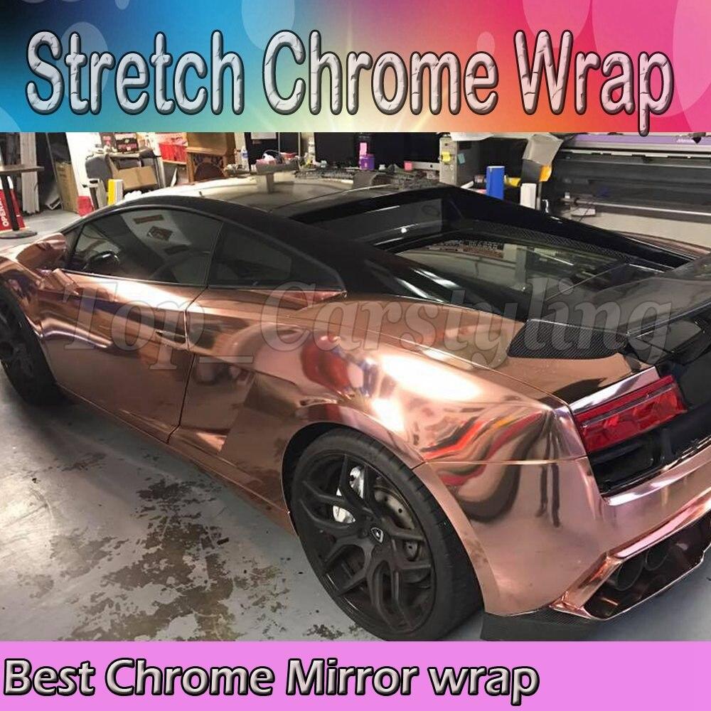 1.52x20 м Зеркало Chrome гальваническим винил оклеивание фольга Дека Волокно car/мотоциклетные украшения мембрана Стикеры автомобиля стиль