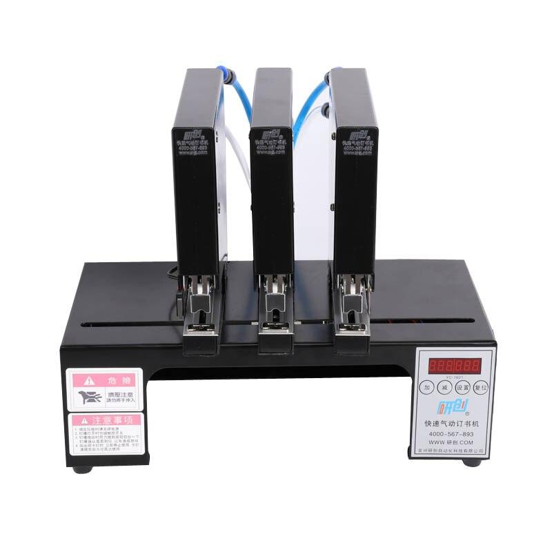 Trois-tête pneumatique agrafeuse machine à relier automatique électrique agrafeuse machine à relier machine à clouer Avec 180 fois/min