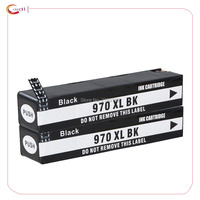 2Black Compatible for HP970 XL 971 XL Ink Cartridge HP OfficeJet X451dn X451dw X476dn X476dw X551dw X576dw X451 X476 X551 ink