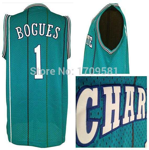 new concept edc31 71fa7 2015 Charlotte Throwback Tyrone Muggsy Bogues Jersey Cheap Tyrone Bogues  Basketball Jerseys Rev 30 New Material Home Green