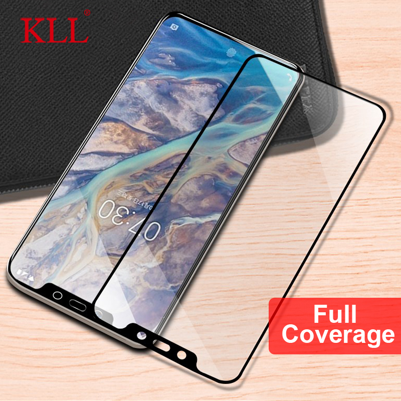 9H Full Cover Tempered Glass For Nokia 8.1 3.1 7.1 2.1 6.1 5.1 Plus Screen Protector Film For Nokia 8 5 6 2018 X7 X6 X5 Glass