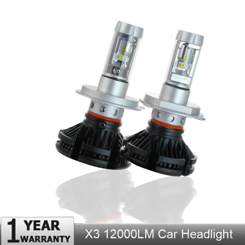 Elgux 2PCs X3 ZES H4 H7 LED Car Headlight Bulb 3000K/6500K/8000K Yellow White Ice Blue Lamp H11 9005 9006 LED Car Lights