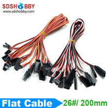 10pcs 26 26AWG Servo Extension Flat Cable 200mm