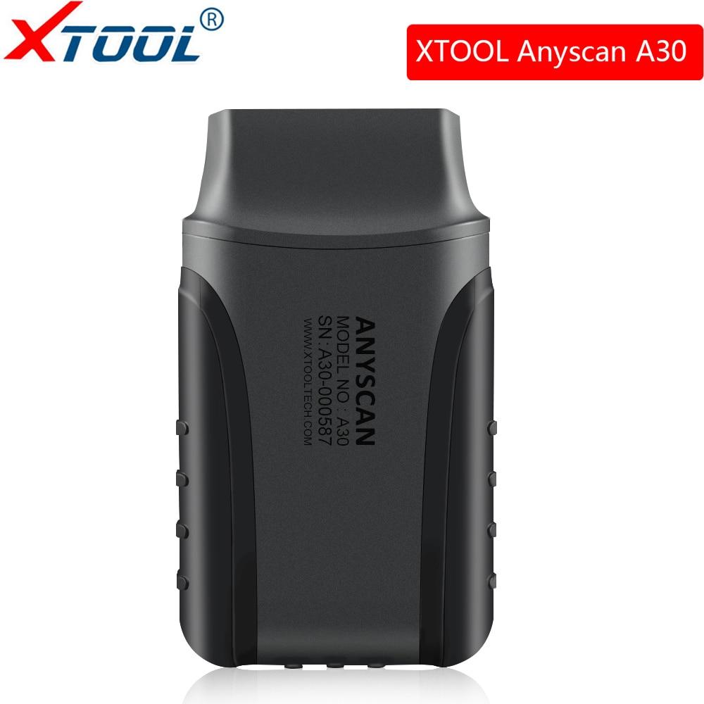Xtool Anyscan A30 Tous Les Système détecteur de voitures Obd2 Code Lecteur Scanner Pour EPB Huile Réinitialiser airbag ABS Obd2 Outil De Diagnostic livraison mise à jour