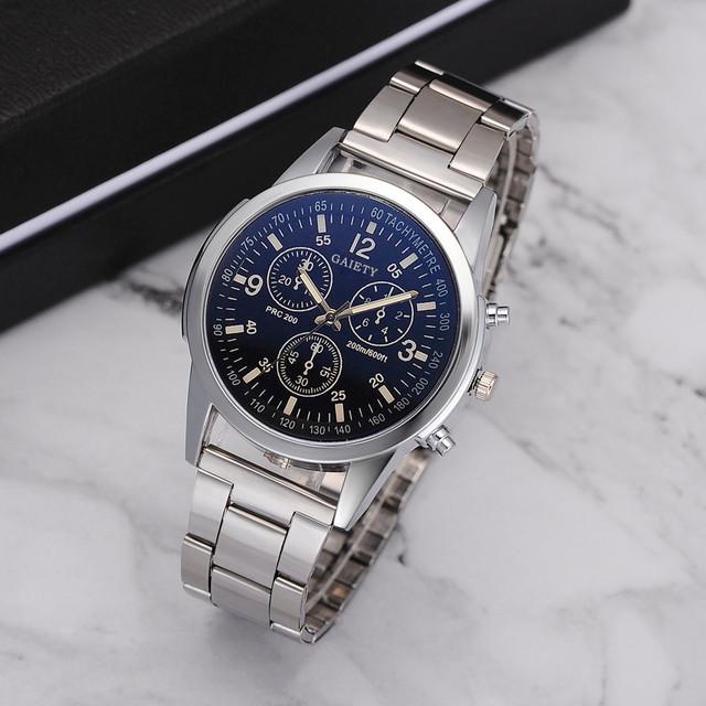 saatleri Fashion Mens Steel Belt Analog Sport Quartz Wrist Watch mens watches top brand luxury Masculino Reloj watch men 35