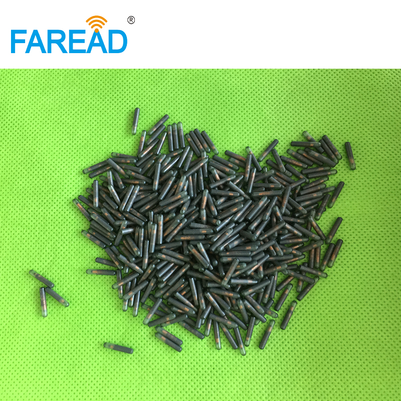 Free Shipping X10pcs RFID Microchip With Free ICAR Number 2.12*12mm Low Frequency EM4305 ISO11784/85