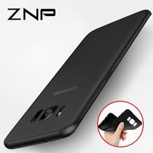 ZNP Ultra Thin Matte Silicone Cover Case For Samsung Galaxy S5 S6 S7 Edge S8 S9 Plus A5 A3 A7 J5 J7 2015 2016 2017 Soft Cases(China)
