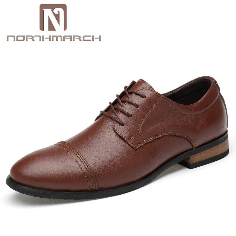 NORTHMARCH Brand Formal Oxford Shoes For Men Lace Up Wedding Shoes Men Business Casual Man Shoes Zapatos De Vestir Hombre