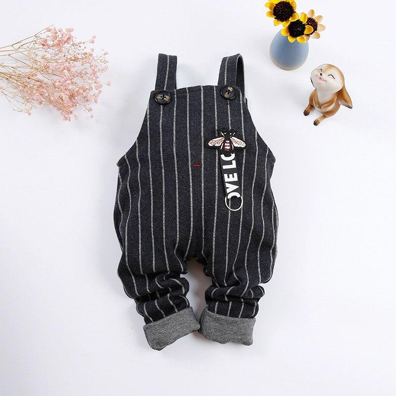 2018 Модная одежда для детей, Детская мода Комбинезоны для девочек мальчик хлопка в полоску для мальчиков комбинезон Повседневная Брюки для д... ...