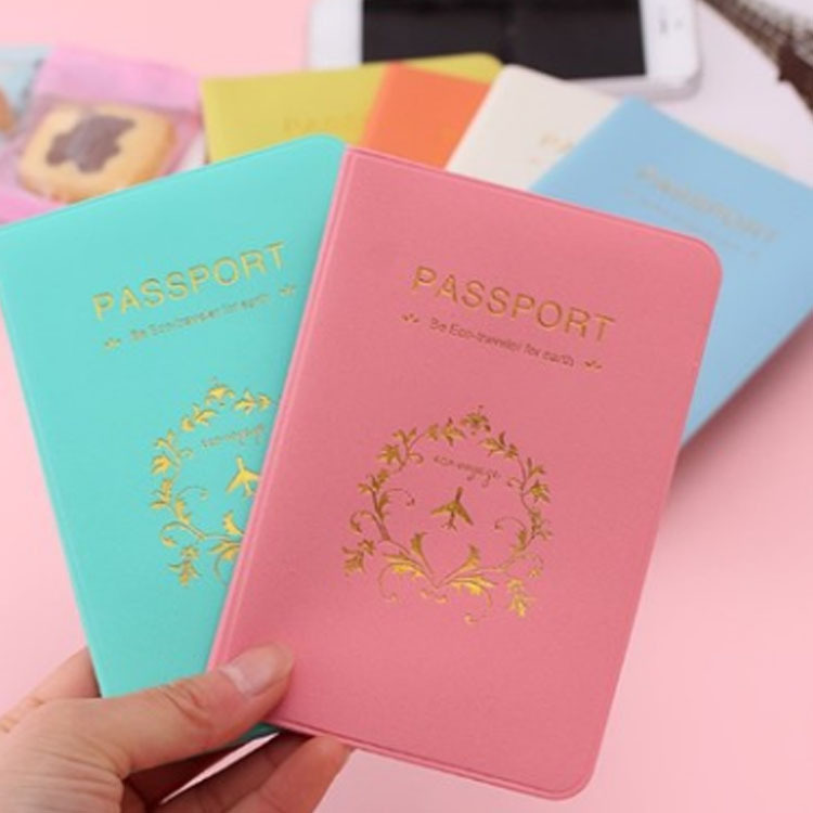 Passport Cover Russia Travel Leather Women Men Cute Pink Candy Colour Passport Wallet Holder Card Case Bag Travel Accessories monopoly multifunctional polyethylene travel passport cards storage bag deep pink page 3