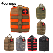 Outdoor EDC Molle Tactical Pouch Bag Emergency First Aid Kit Bag Travel Camping Hiking Climbing Medical Kits Bags one hand tourniquet trauma shear molle pouch first aid kit for car vehicle outdoor camping hiking travel molle medical pouch
