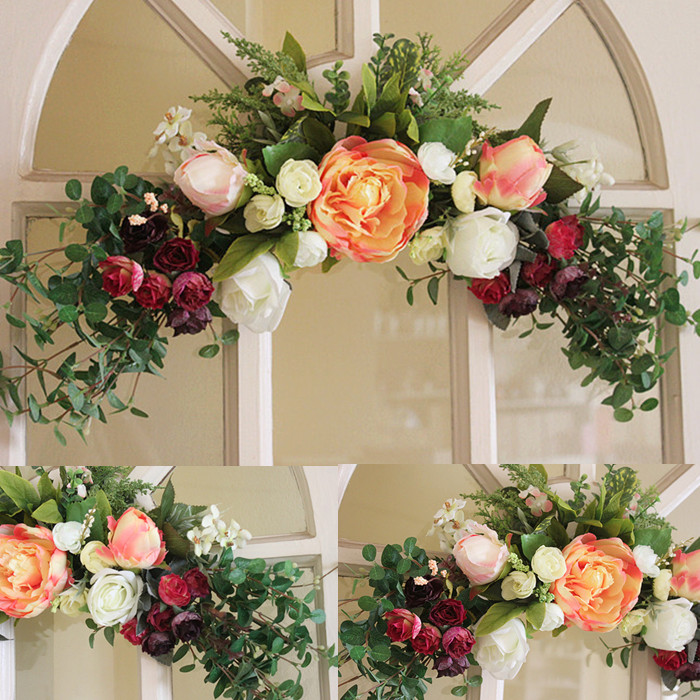Aliexpress Buy Wreaths Rose Artificial Flower Garland Wall