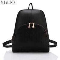 MIWIND Fashion Girls Backpack PU Leather Fashion Women Backpack School Travel Bag Teenagers G TTY856