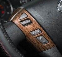 steering wheel button model decorative cover stikcer trim for nissan patrol Interior Accessories 2017 2018