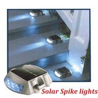 Cheap Sell 6leds Solar Road Warning Light Red Yellow Blue Waterproof Ip68 Garden Villa Decorative Lights