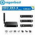 Minix neo z83-4 fanless mini pc tv box intel x5-z8300 bits de Windows 10 WiFi de Banda Dual 2.4 GHz 5 GHz Bluetooth 4.2 Multimedia jugador
