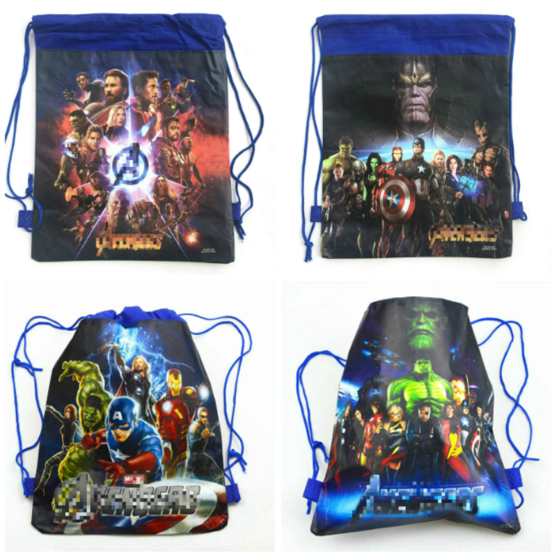 1pcs 34*27cm Avenger Super Hero cartoon non-woven fabrics drawstring backpack Gift bag Party Favor1pcs 34*27cm Avenger Super Hero cartoon non-woven fabrics drawstring backpack Gift bag Party Favor