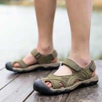 ONLYMONKEY ผู้ชายรองเท้าแตะเดินป่ากลางแจ้งปีนเขา Trekking กีฬารองเท้าลื่นสวมใส่รองเท้าผ้าใบ