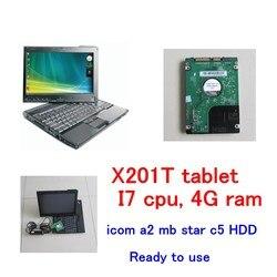 Dysk twardy o pojemności 1TB najnowsze oprogramowanie z X201T tablet I7 i 4g diagnozy na laptopa dla bmw icom a2 b c i mb gwiazda sd connect c4 c5 oprogramowania 2in1