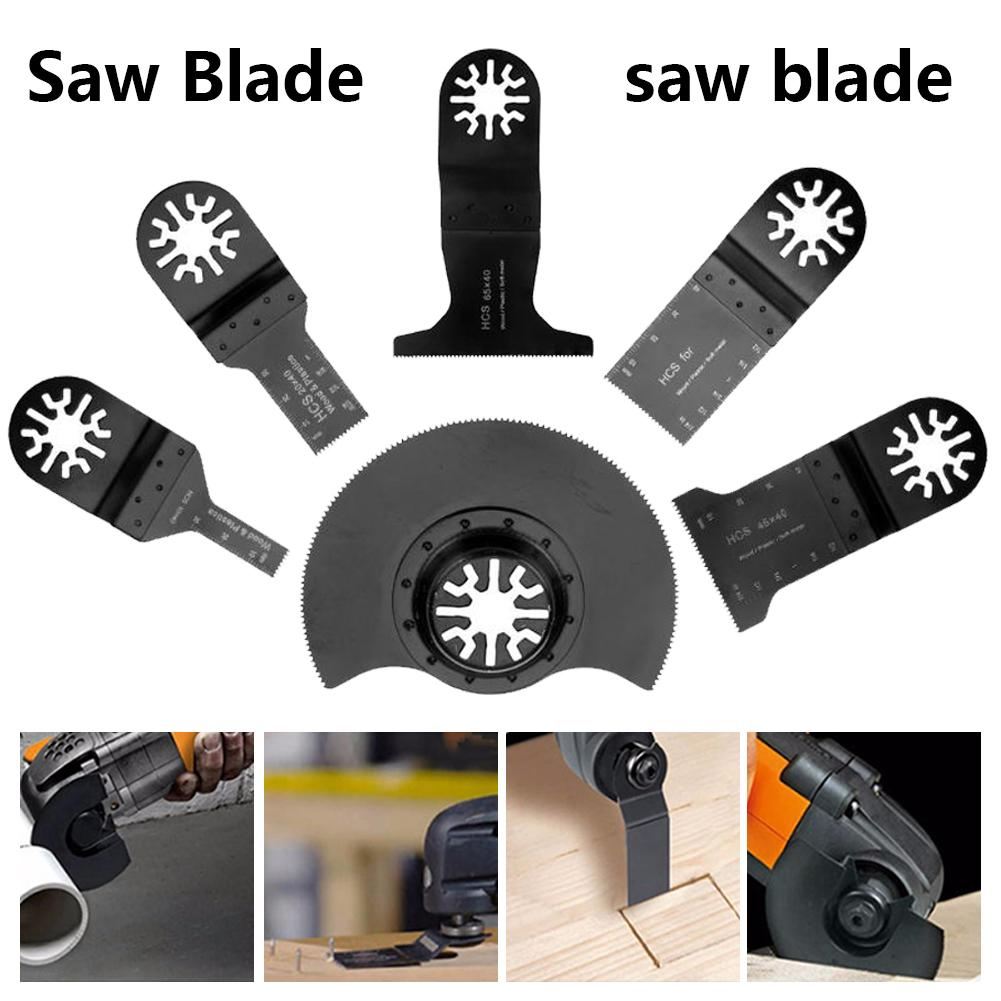 6pcs Woodworking Oscillating Renovator Multi Tool Saw Blades For Wood Cutting Multifunction Renovator Accessories Tools