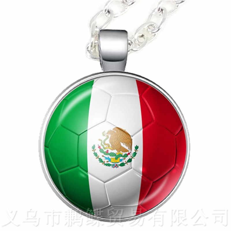2018 nuevo producto palabra tazas collar Bandera Nacional islén, Bélgica, Brasil, Marruecos, Perú, México, recuerdos de fútbol de Corea y Croacia