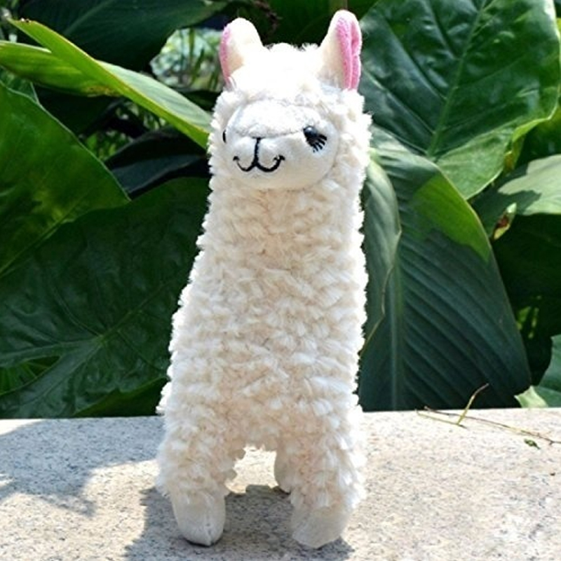23cm Alpaca Llama Plush Toy Doll Animal Stuffed Animal Dolls For Kids Birthday Gift stuffed animal 120 cm cute love rabbit plush toy pink or purple floral love rabbit soft doll gift w2226