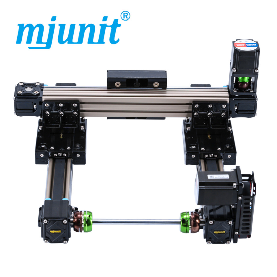 mjunit MJ50 xy Paypal Accepted Horizonal Or Vertical Usage Cnc Linear Guide Rail with 500x500mm stroke direct mount