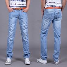 Большая Распродажа Весна Лето Джинсы утр Тонкий Бесплатная доставка 2017 мужская мода джинсы menpants одежда новый модный бренд