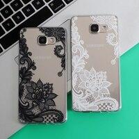 Floral Lace Mandala Vintage Flower For Samsung Galaxy S4 S5 S6 S7 Edge S8 Plus A3 A5 2016 2015 2017 J1 J2 J3 J5 J7 Note 8 Case