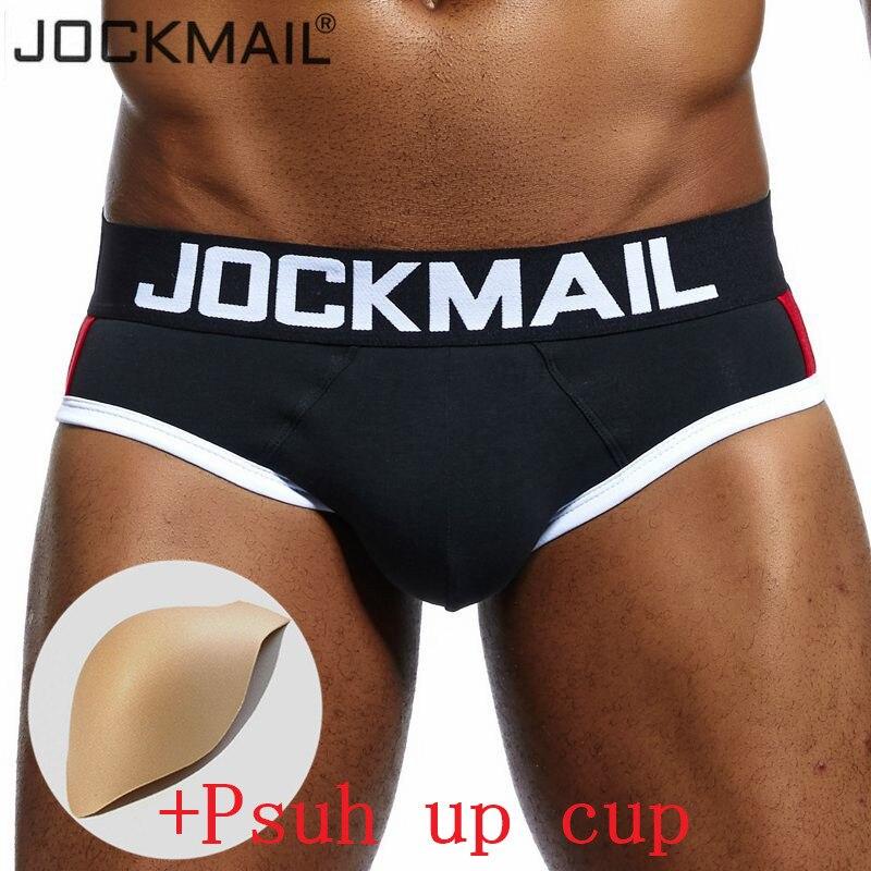 JOCKMAIL Brand Enhancement Men Underwear Penis Pouch Bulge Enhancing Push Up Cup Sexy Men Briefs Gay Underwear Calzoncillos Slip