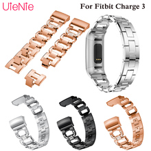 Aluminium Alloy replacement wrist bracelet For Fitbit Charge 3 frontier/classic strap for smart watch wristband