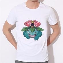 Men Funny Short Sleeve TShirt Anime Pocket Monster Pikachu T-shirt and Pokemon Go Kids T Shirt Boy in Brand Tee Shirts 25-68#