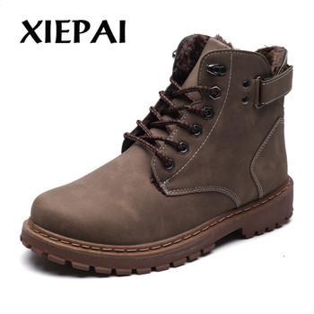 XIEPAI 2018 New Fashion Men Winter Boots Super Warm Male Snow Ankle Boots Waterproof Wear-resisting Casual Boot Shoes умные часы smart watch y1