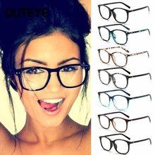 b87ada2af98 Vintage Retro Eyeglasses Gradient Frame For Women Clear Lens Glasses Brand  Plain Eye Glasses Eyewear De Grau Feminino