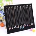 Fashion Paper Board Jewelry Display Shelf Necklace Holder Pendant Stand Rack Bracelet Holder Jewelry Pendants Frame Showcase